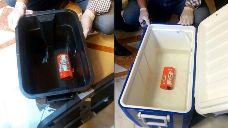 The `black boxes` retrieved from EgyptAir flight MS804 (AFP/Media center of the Egyptian Ministry of Civil Aviation)