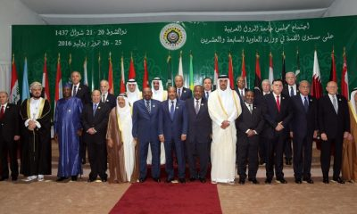 Representatives pose after the opening ceremony of the Arab league conference on July 25, 2016 in Nouakchott. AFP PHOTO / STR