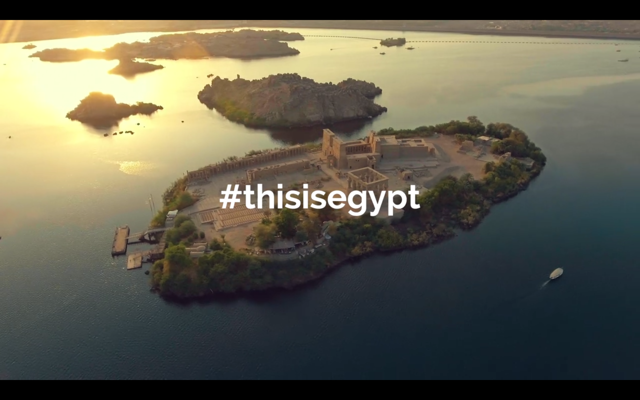 Screenshot from the second #ThisIsEgypt promotional video