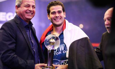 World Championship winner Karim Abdel Gawad. Photo courtesy of Professional Squash Association (PSA)