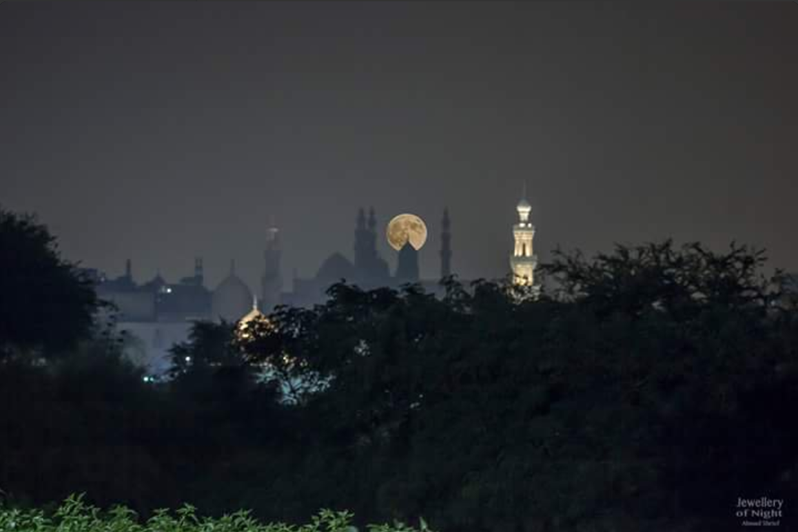 Supermoon over Old Cairo. Photo: Ahmad Shrief