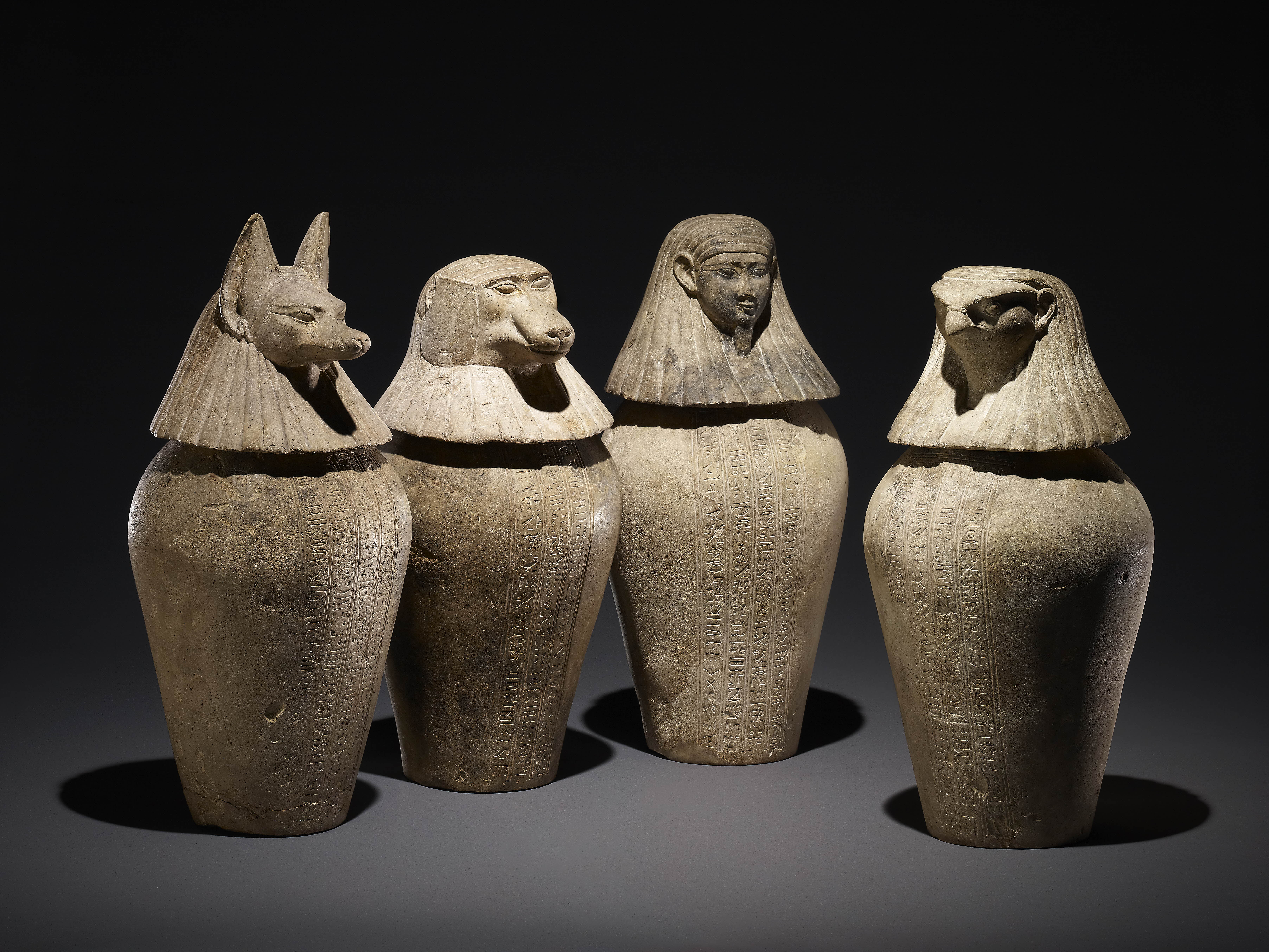 Canopic jars. Courtesy of the Museum of Applied Arts & Sciences