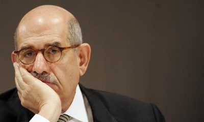 International Atomic Energy Agency (IAEA) Director General Mohamed El Baradei listens to a speech at the International Conference on Preventing Nuclear Catastrophe in Luxembourg May 24, 2007.    REUTERS/Thierry Roge   (LUXEMBOURG)