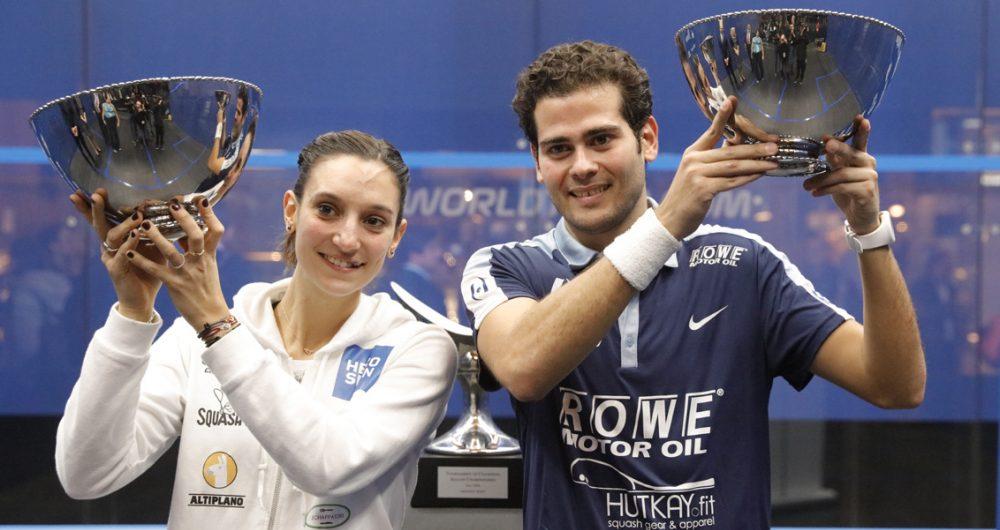 Egypt's Karim Abdel Gawad and France's Camille Serme