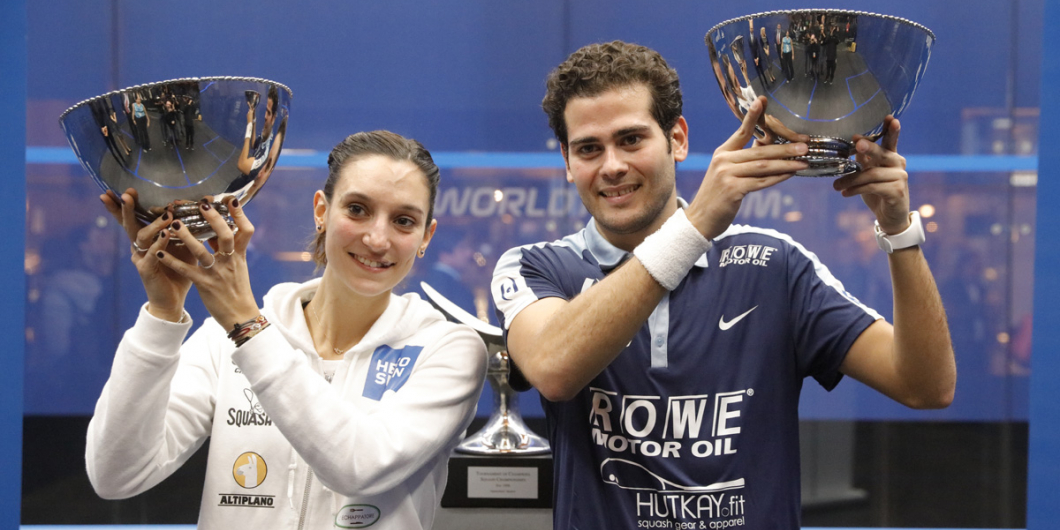 Egypt's Karim Abdel Gawad and France's Camille Serme