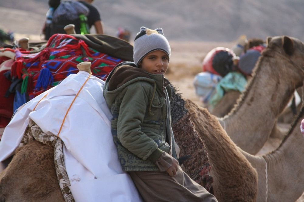 Badr, a child from the Mezeina tribe which inhabits parts of South Sinai. Credit: Enas El Masry