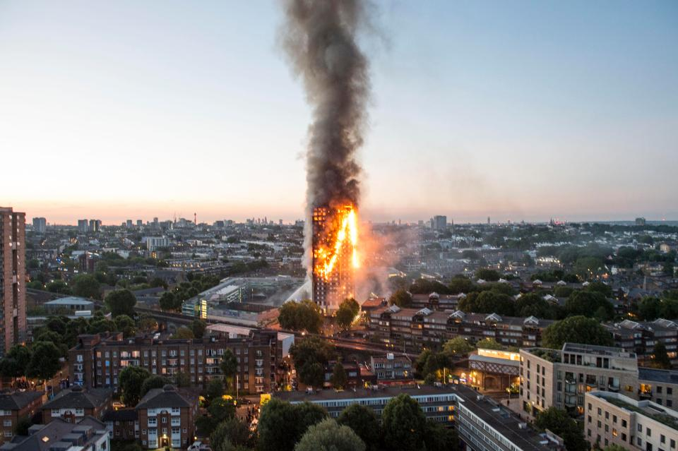 Grief turns to anger in London neighborhood near tower fire