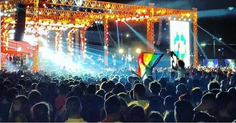 Egypt concert-goers arrested for raising rainbow flag