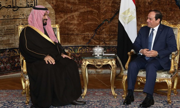 Saudi Arabian Kingdom Mohamed bin Salman and Egyptian President Abdel Fatah al-Sisi