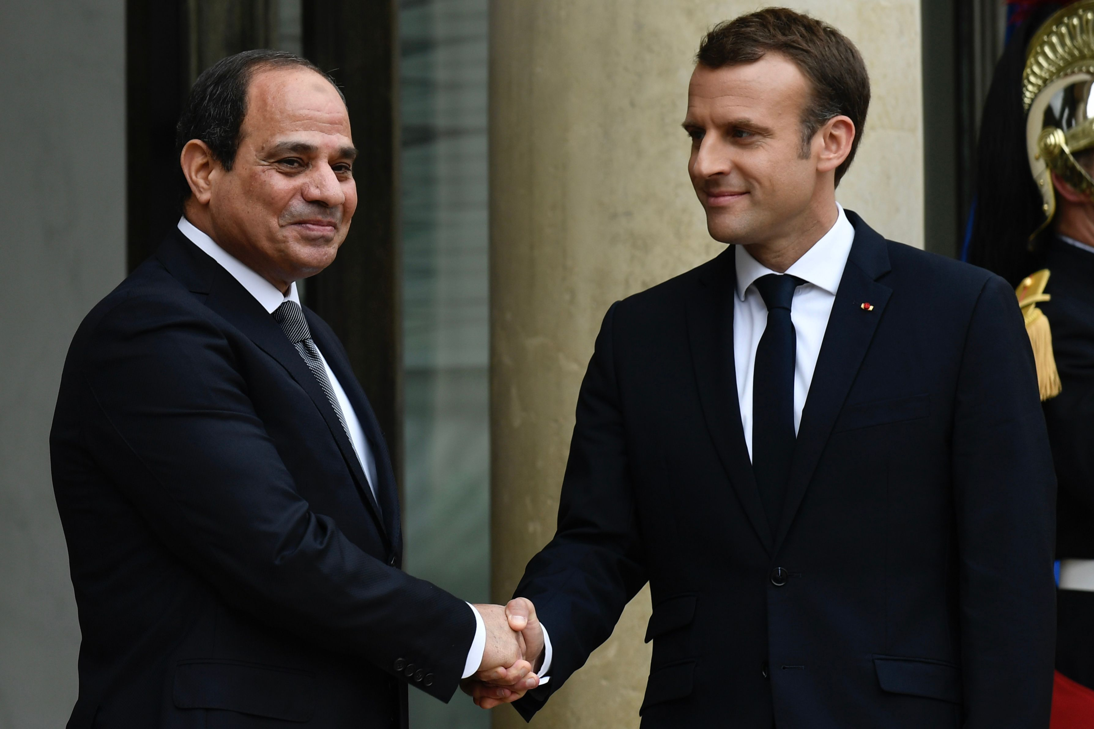 Macron presses Egypt's Al-Sisi on human rights during official visit