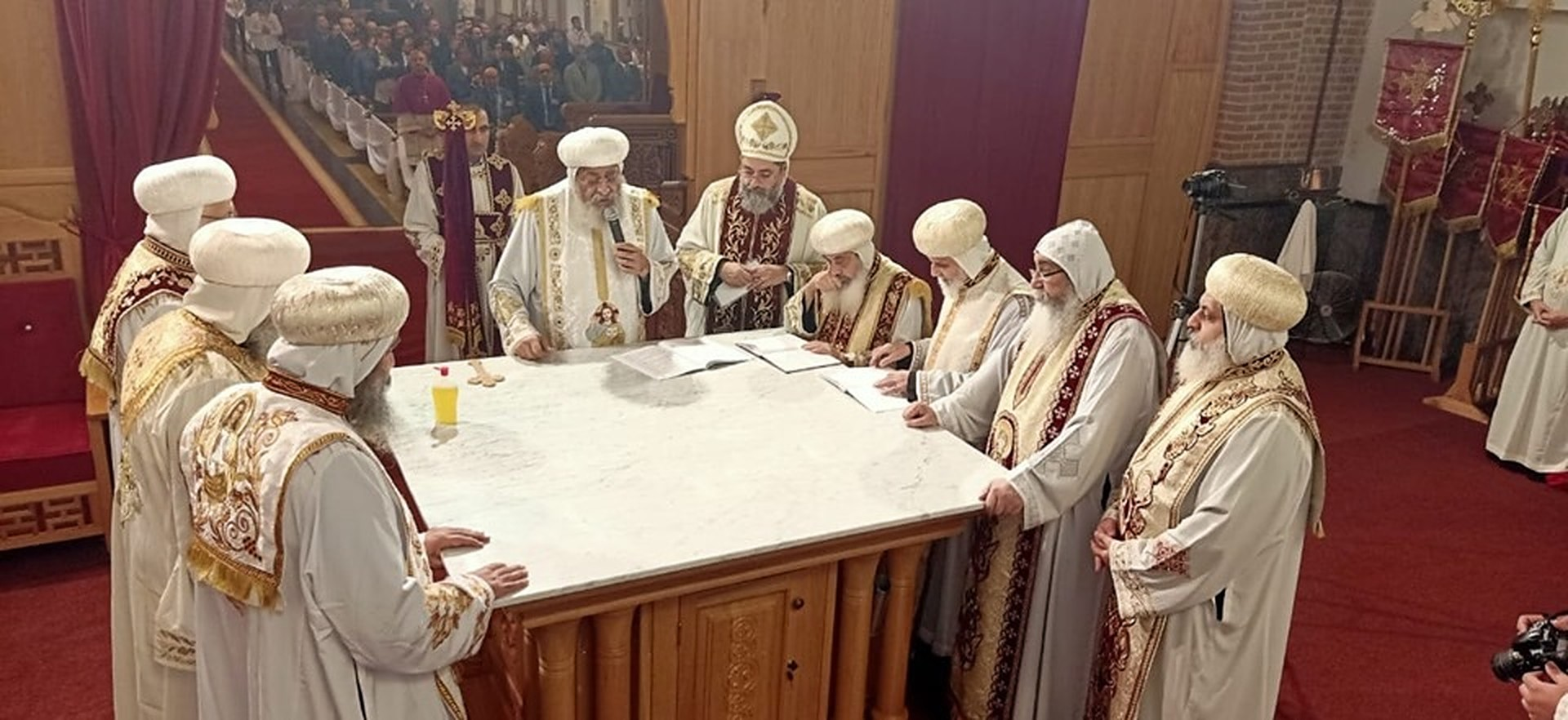 Egypt's Pope Tawadros Opens Coptic Orthodox Church in Belgium
