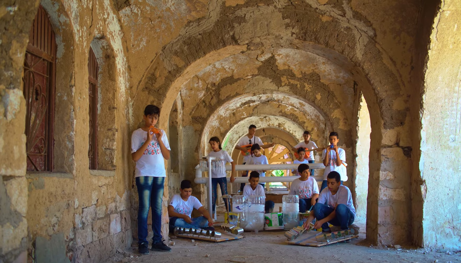 This Band of Egyptian Children Plays Music With Recycled Trash Only