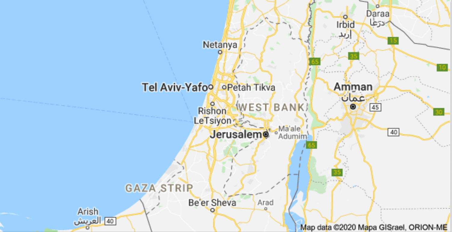 Image of: Google Maps And Palestine What The Annexation Means For The West Bank Egyptian Streets