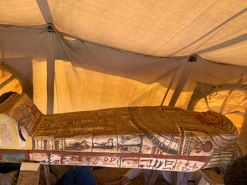 More intact wooden coffins unearthed in Egypt's Saqqara necropolis - Ancient Egypt - Heritage