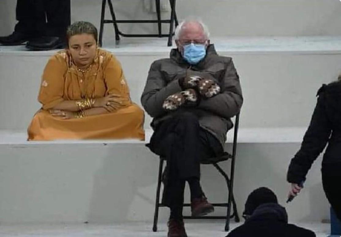 Bernie Sanders Meme Reaches Egypt Egyptian Streets