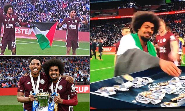 Leicester City football players Hamza Choudhury and Wesley Fofana